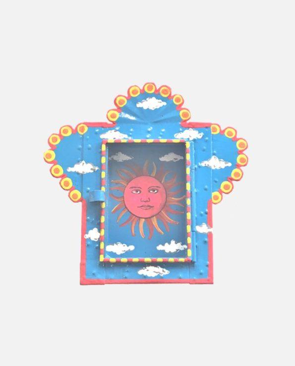Nicho vitrine métal Loteria El Sol 14*14cm