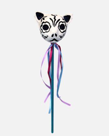 Maracas mexicain chat à la tête de mort