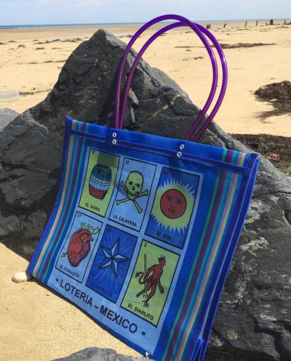 sac cabas original loterie mexicaine bleu 01