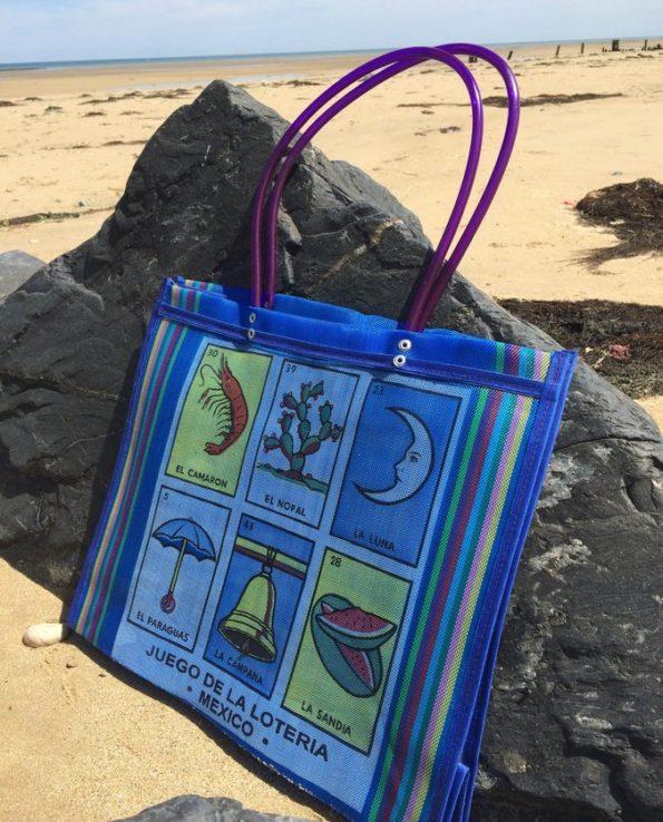 sac cabas original loterie mexicaine bleu 02