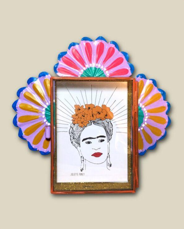 Décoration Frida Kahlo - Nicho paillettes
