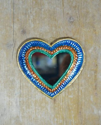 Coeur sacré mexicain miroir Frise dorée