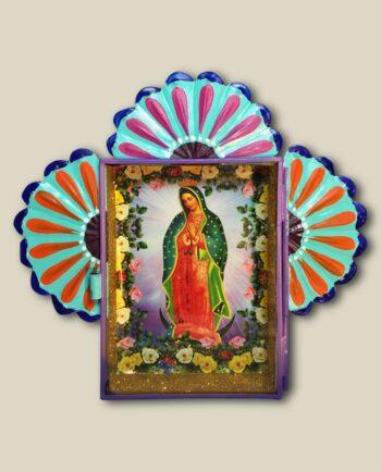 Décoration Vierge de Guadalupe - Nicho paillettes