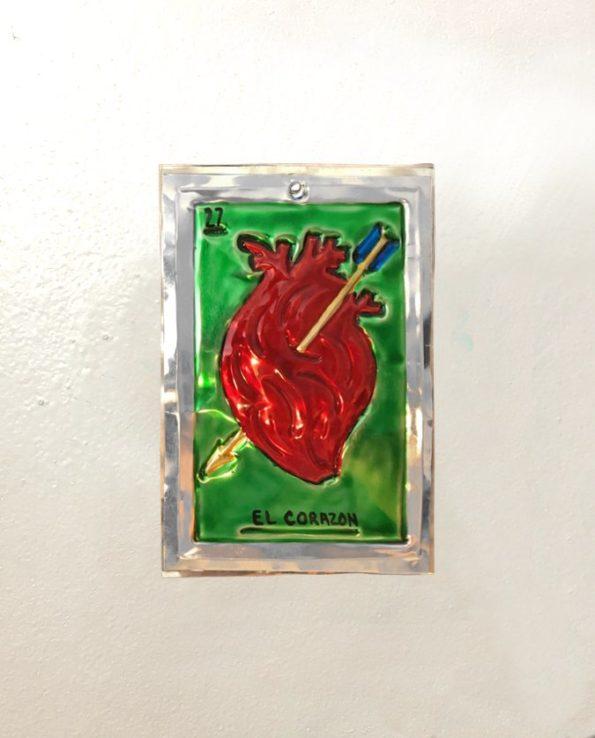 Décoration murale en métal - Coeur anatomique