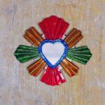 Coeur sacré mexicain miroir Rayons