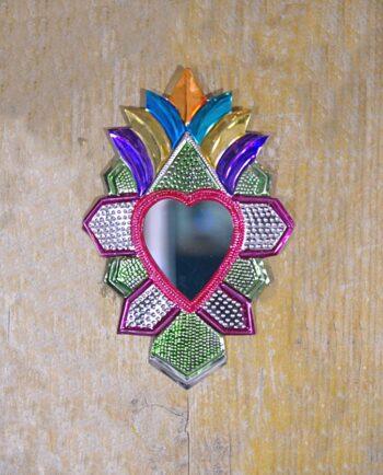 Coeur sacré mexicain miroir Rayons géométriques