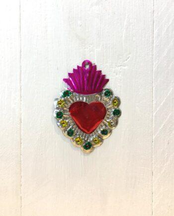 Coeurs sacré mexicain couronne de fleurs