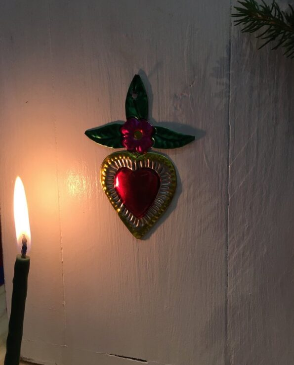 Coeurs sacré mexicain grandes feuilles - nature morte