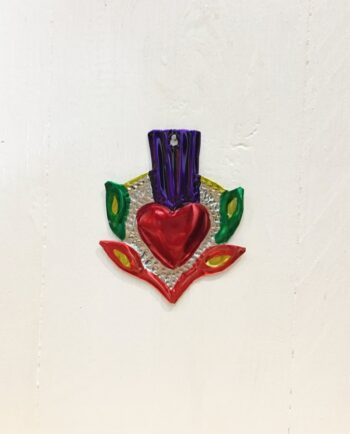 Coeurs sacré mexicain couronne de feuilles