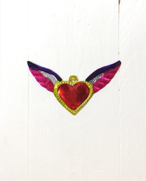 Coeurs sacré mexicain ailes d'ange
