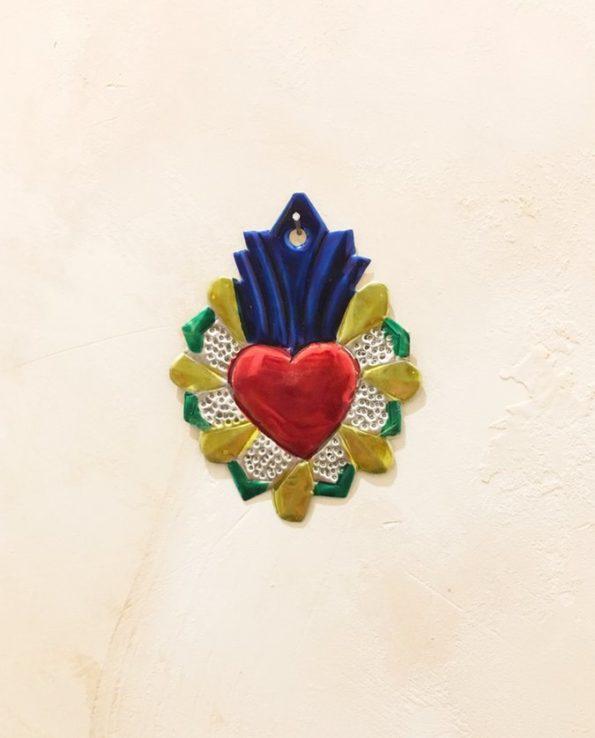 Coeurs sacré mexicain couronne écrêtée