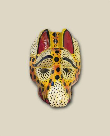 Masque en bois tête de jaguar - Guatemala