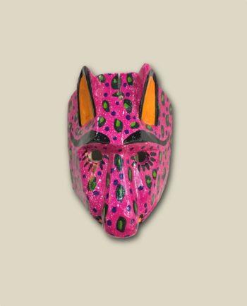 Masque en bois tête de puma - Guatemala