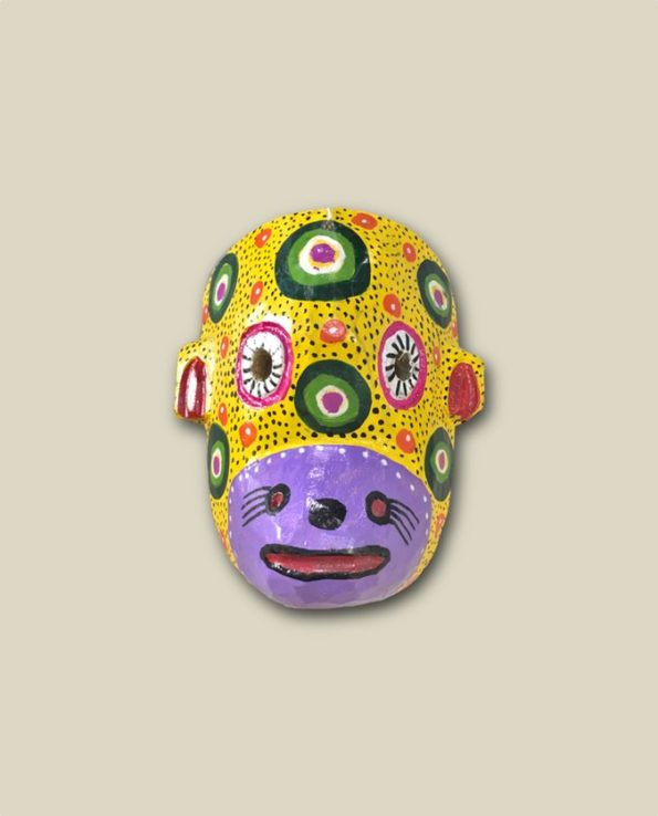 Masque en bois tête de singe - Guatemala