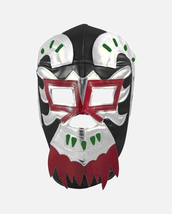 Masque mexicain catcheur Ephesto noir argent