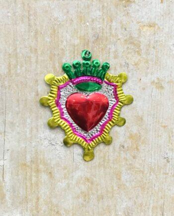 Coeur sacré mexicain - Double couronne