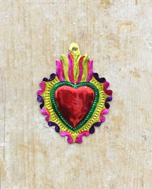 Coeur sacré mexicain - Chevrons arrondis