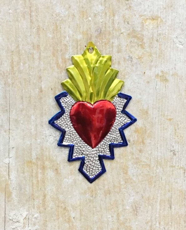 Coeur sacré mexicain - Bord géométrique