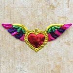 Coeur sacré mexicain - Ailé bord or