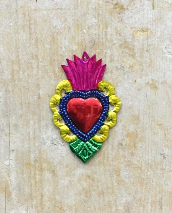 Coeur sacré mexicain - Bord baroque