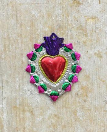 Coeur sacré mexicain - Bord couronné