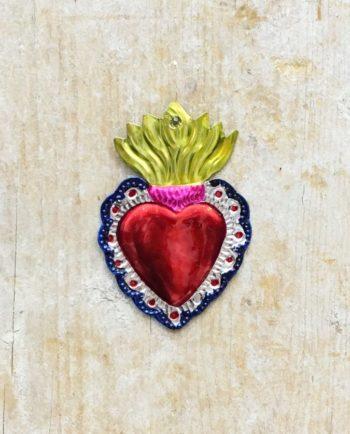 Coeur sacré mexicain - Bord vagues symétriques
