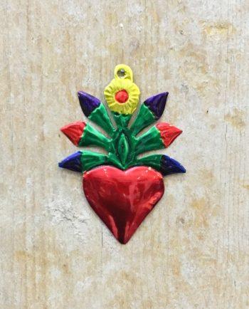 Coeur sacré mexicain - Flamme de branches