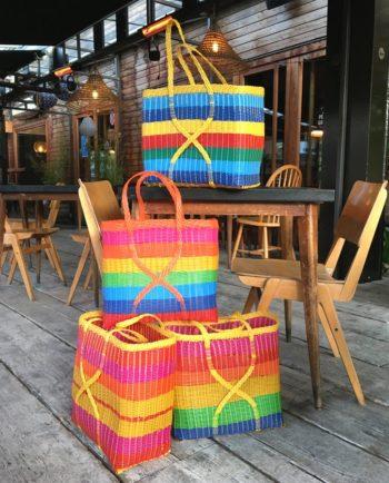 Cabas panier plage tressé main du Guatemala