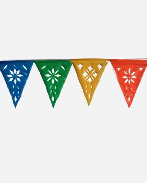 Papel Picado mexicain guirlande de fanions triangulaires