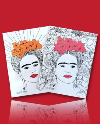 Cahier Frida Kahlo par Juliette Poney