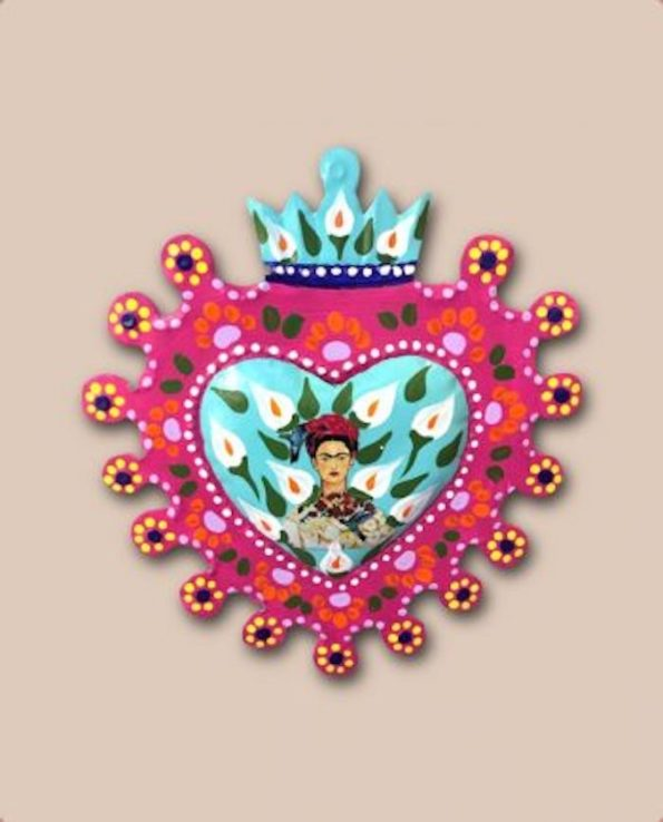 Décoration murale Frida Kahlo - Coeur fleuri