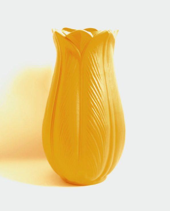 Vase tulipe vintage 27cm - jaune