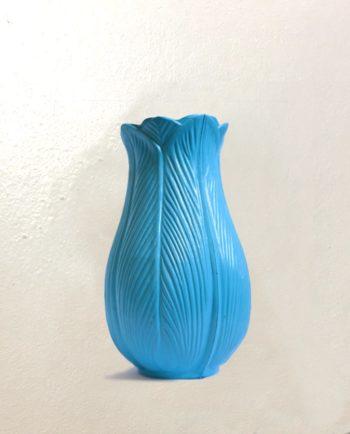 Vase tulipe vintage 18cm - bleu ciel