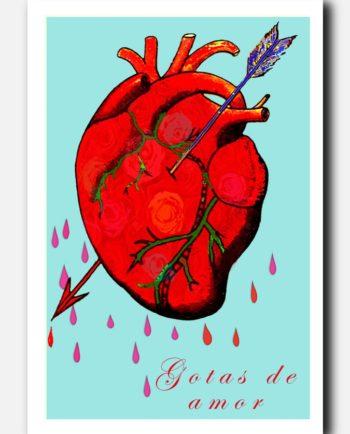 carte postale mexicaine gotas de amor