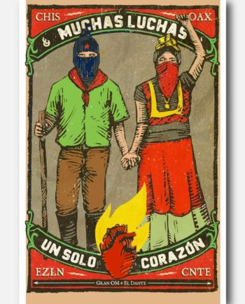 carte postale mexicaine muchas luchas