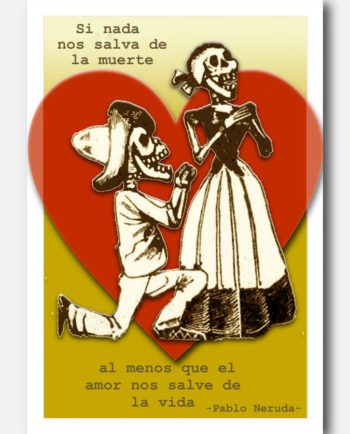 carte postale mexicaine si nada nos salva de la muerte