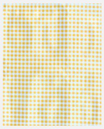 Toile cirée mexicaine motif petits carreaux Vichy couleur jaune