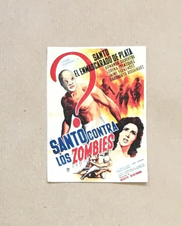 Sticker affiche vintage film El Santo contra los Zombies