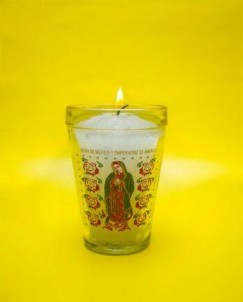 Bougie sérigraphiée Vierge de Guadalupe