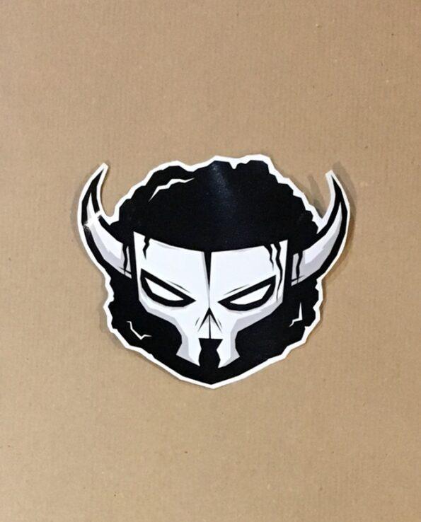 Sticker Luchador Toro Blanco skull collection grafeur Docteur Rabias