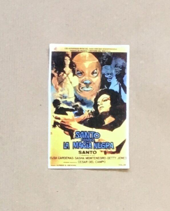 Sticker affiche vintage film El Santo contra la magia negra