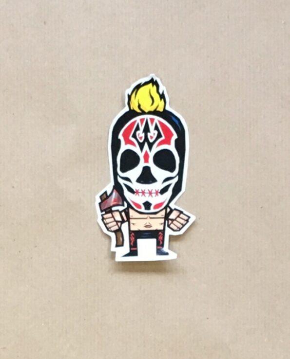 Sticker luchador Wotan debout collection grafeur Docteur Rabias