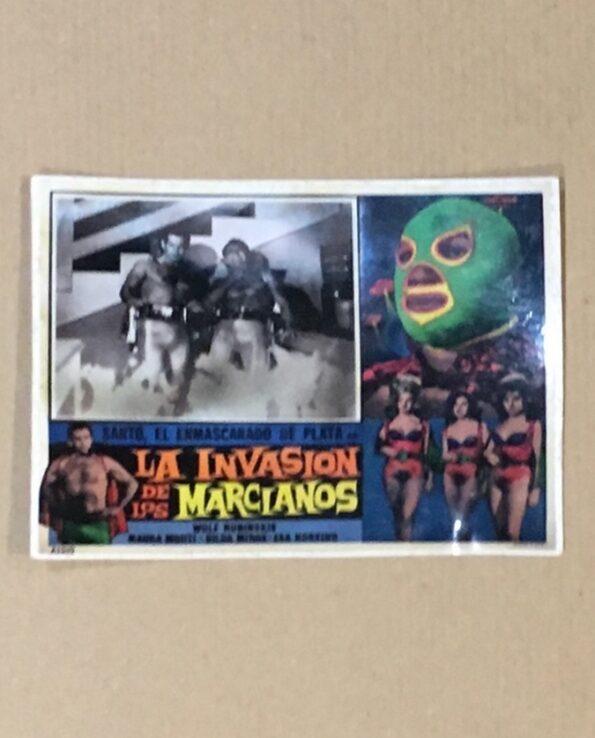 Sticker affiche vintage film El Santo contra la invasion de los marcianos