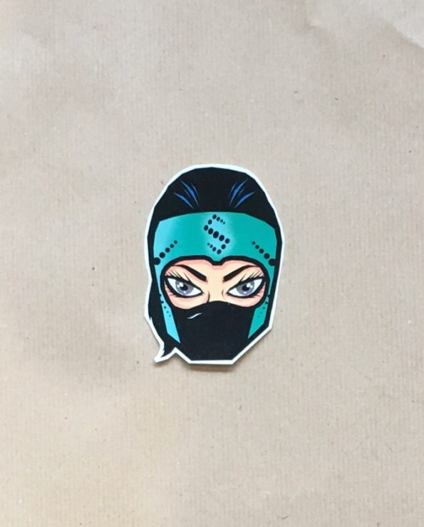 Sticker luchadora Lady Shani collection grafeur Docteur Rabias