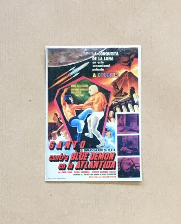 Sticker affiche vintage film El Santo contra Blue Demon en la Atlantida