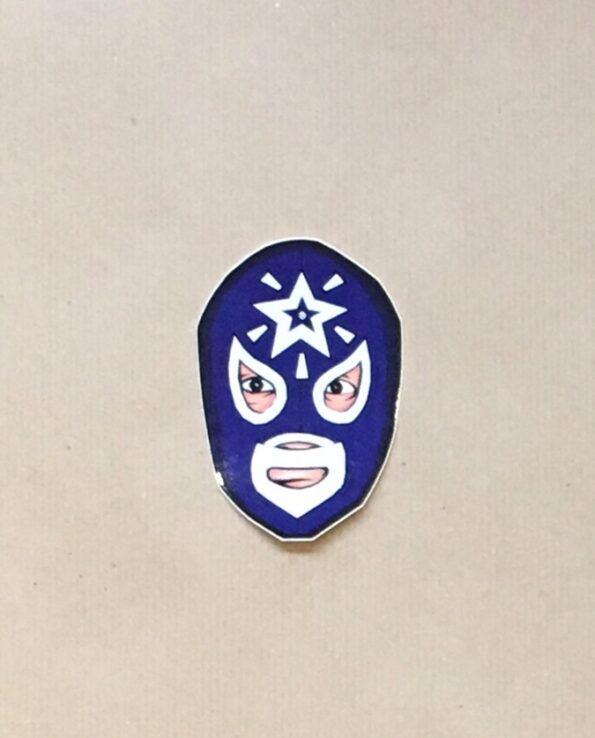 Sticker luchador Estrella Blanca collection grafeur Docteur Rabias