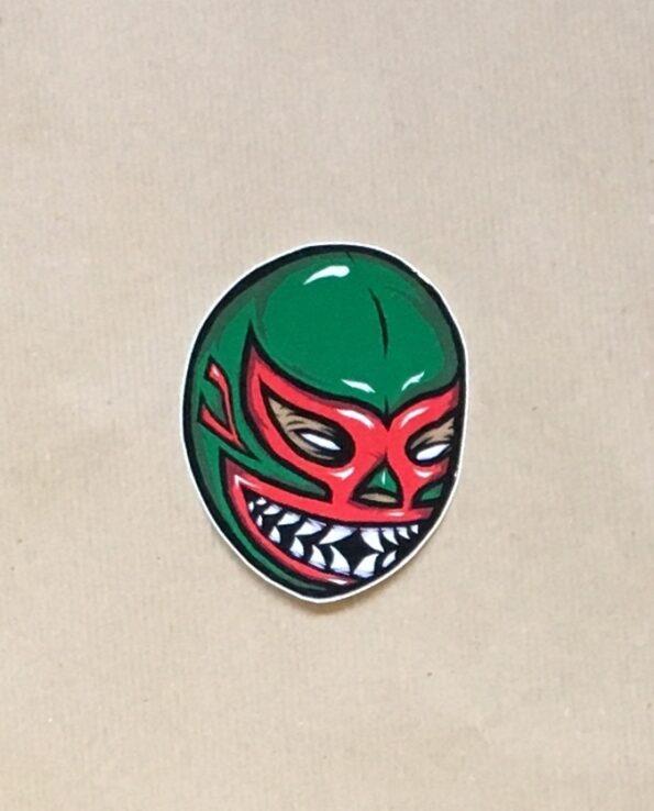 Sticker luchador Mil Mascaras de Tiburon collection grafeur Docteur Rabias