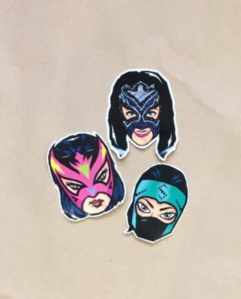 Stickers luchadoras collection grafeur Docteur Rabias
