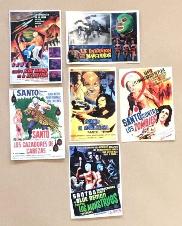Stickers affiches vintage films lucha libre El Santo