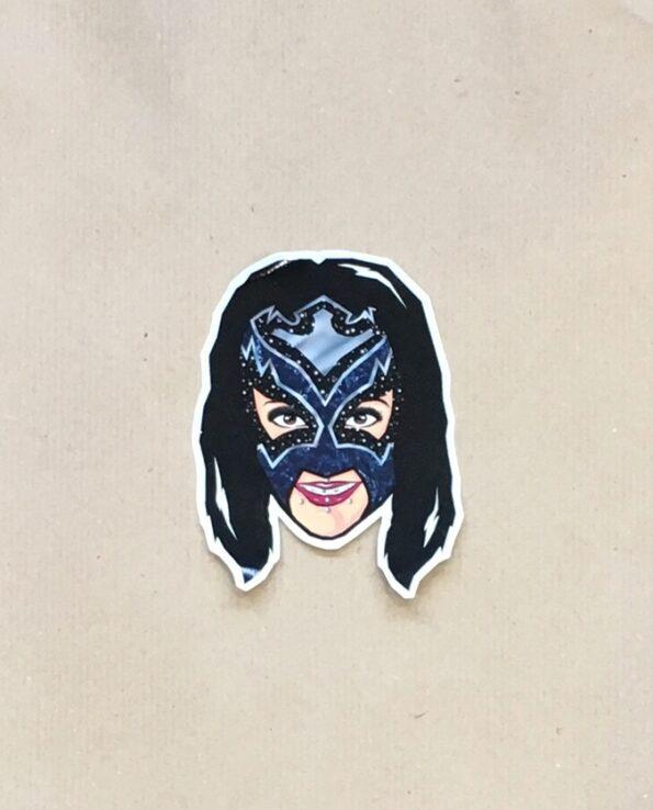 Sticker luchadora Reina Oscura collection grafeur Docteur Rabias